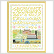 cross stitch pattern Bygone Days Sampler
