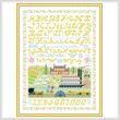 cross stitch pattern Bygone Days Sampler