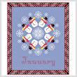 cross stitch pattern January - Snow Is Here