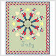 cross stitch pattern July - Patriotic Images