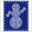 cross stitch pattern Pineapple Doily Snowman