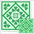 cross stitch pattern Shamrocks by the Dozen