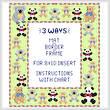 cross stitch pattern Teddy Mat/Border/Frame for 8x10 insert