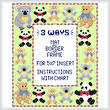 cross stitch pattern Teddy Mat/Border/Frame for 5x7 insert