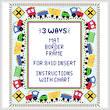 cross stitch pattern Train Mat/Border/Frame for 8x10 insert