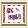 cross stitch pattern Be Bold