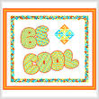 cross stitch pattern Be Cool