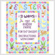cross stitch pattern Easter Mat/Border/Frame for 5x7 insert