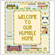 cross stitch pattern Homes Sampler (14x16)