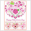 cross stitch pattern Happy Valentine's Day