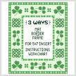 cross stitch pattern Irish Mat/Border/Frame for 5 x 7 insert