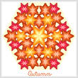 cross stitch pattern Kaleidoscope of Seasons - Autumn
