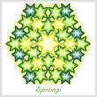 cross stitch pattern Kaleidoscope of Seasons - Spring
