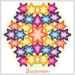 cross stitch pattern Kaleidoscope of Seasons - Summer