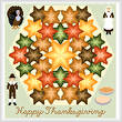 cross stitch pattern Kaleidoscope - Thanksgiving