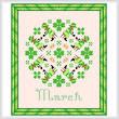 cross stitch pattern March - St. Patricks Day