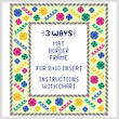 cross stitch pattern Surprise - Mat/Border/Frame for 8x10