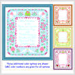 cross stitch pattern Wedding Announcement (14x16)