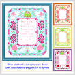 cross stitch pattern Wedding Announcement (10x12)