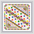 cross stitch pattern Bright and Busy