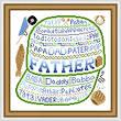 cross stitch pattern Father