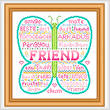 cross stitch pattern Friend