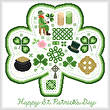 cross stitch pattern Happy St. Patrick's Day