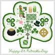 cross stitch pattern Happy St. Patrick's Day