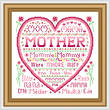 cross stitch pattern Mother