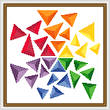 cross stitch pattern Triangles