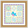 cross stitch pattern Bluebird Coverlet