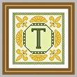 cross stitch pattern Classic Monogram - T