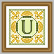 cross stitch pattern Classic Monogram - U