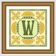cross stitch pattern Classic Monogram - W