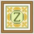 cross stitch pattern Classic Monogram - Z