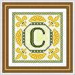 cross stitch pattern Classic Monogram - C