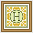 cross stitch pattern Classic Monogram - H