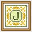 cross stitch pattern Classic Monogram - J