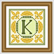 cross stitch pattern Classic Monogram - K
