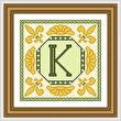 cross stitch pattern Classic Monogram - K