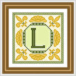 cross stitch pattern Classic Monogram - L