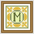 cross stitch pattern Classic Monogram - M