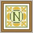 cross stitch pattern Classic Monogram - N
