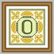 cross stitch pattern Classic Monogram - O