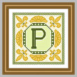 cross stitch pattern Classic Monogram - P