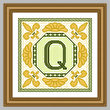 cross stitch pattern Classic Monogram - Q