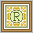 cross stitch pattern Classic Monogram - R