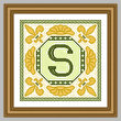 cross stitch pattern Classic Monogram - S