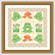 cross stitch pattern Froggy Dreams