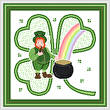 cross stitch pattern Leprechaun's Day